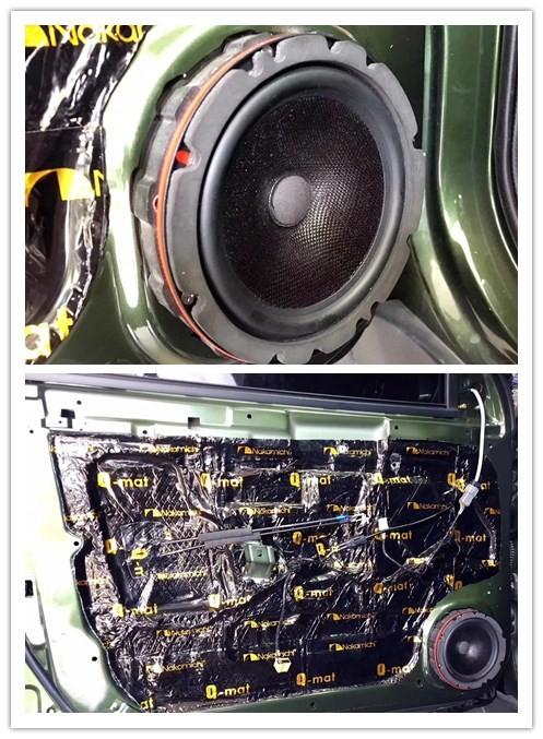 喇叭 中道隔音改装                    门是车内噪音的一个重大来源