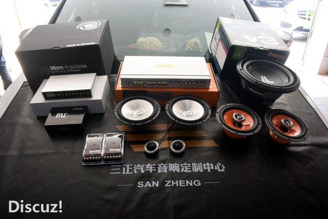 渝北汽车音响改装 重庆三正汽车音响改装 奥迪S3改装德国海螺3系两高清图片